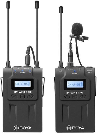 Microfone Sem Fio Boya Wm8 Pro K1 12x S/juros