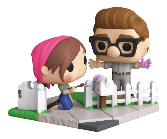 Boneco Funko Pop Disney Pixar Up Carl & Ellie 979 Nycc 2020