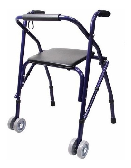Andadera Rollator Ortopedica Sencilla Azul Envio Gratis