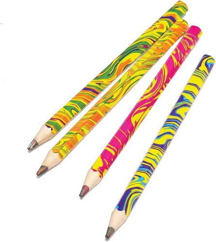 Imagen 1 de 8 de Lápices De Colores Niños Multicolor Lápiz Mágico Escolar X4