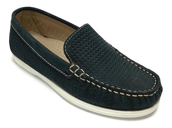 Zapatos Mocasines Full Time Niño Marrón Ft 9312 Corpez 39