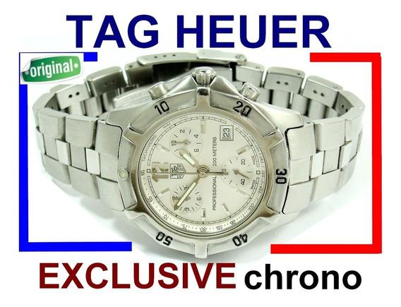 Espetacular Tag Heuer Exclusive Chrono Aço Cn1111 !!!