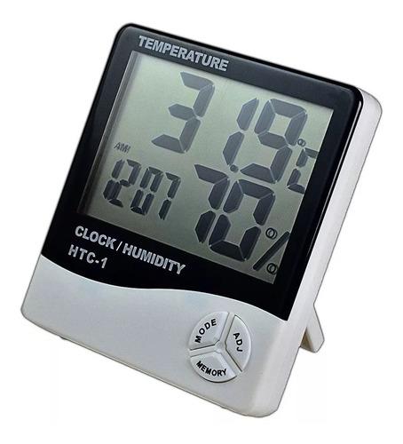 Imagen 1 de 3 de Termohigrometro Relog Alarma Termometro Medidor De Humedad