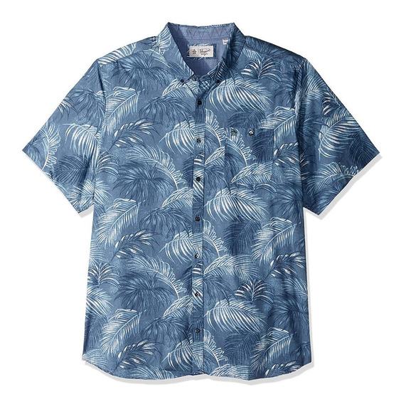 Exclusiva Camisa Original Penguin Palma Xlt Amplia Para 2xl