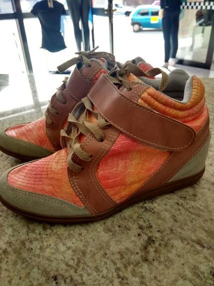 Tênis Sneaker Com Salto 6 Cm
