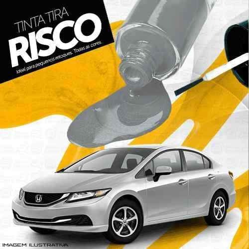 Tinta Tira Risco Automotivo Honda Civic Prata Platinum Tmc