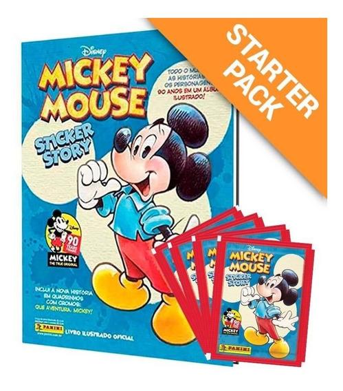 Starter Pack Mickey Mouse 90 Anos-álbum Capa Dura+12 Envelop