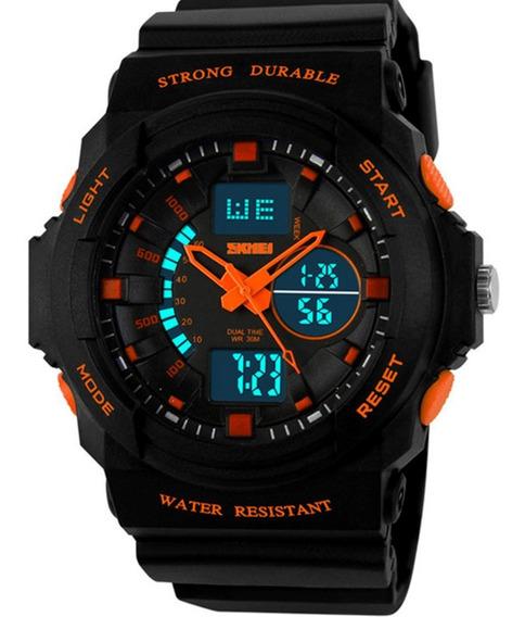 Relógio G Shock Skmei 0955 Masculino Laranja Prova De Água