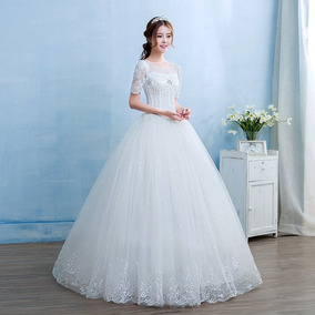 Vestido De Casamento Noiva Estilo Catedral Princesa Comprido