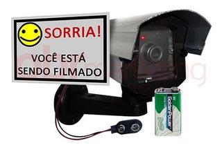 Kit 7 Câmeras Falsa Com Led + Bateria 9v