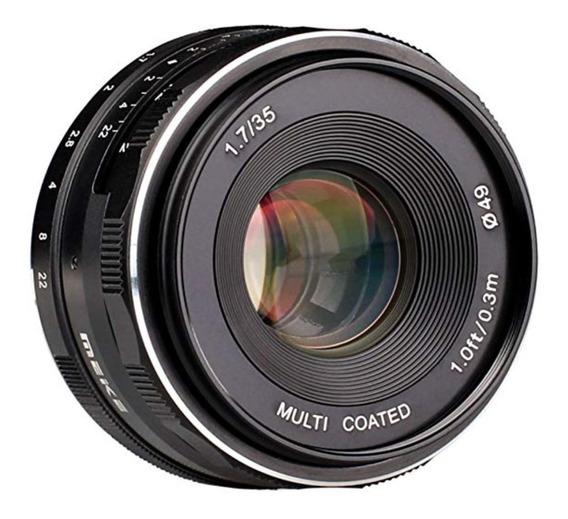 Lente Meike 35mm F/1.7 Para Sony Nex-mount Foco Manual