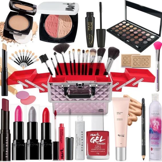 Maleta Maquiagem Profissional Completa Avon Batom Epic Lip