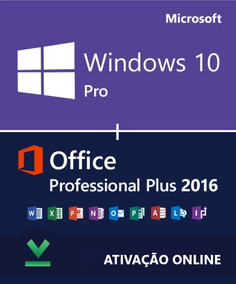 Licença Windows 10 Pro + Office 2016 Plus Key Serial Chave