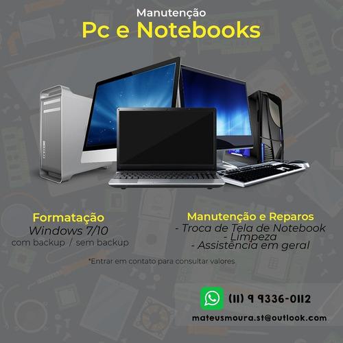 Imagem 1 de 4 de Manutenção Pc/notebook