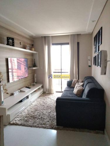 Apartamento Com 3 Dormitórios À Venda, 65 M² Por R$ 370.000 - Vila Baeta Neves - São Bernardo Do Campo/sp - Ap2081