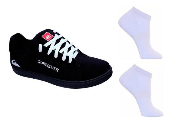 Quiksilver Tênis Flat Form Srt Lançamento + Meia Promoção