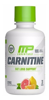 Carnitina Musclepharm Liquida 16 Oz (473 Ml) Sabor Citrus