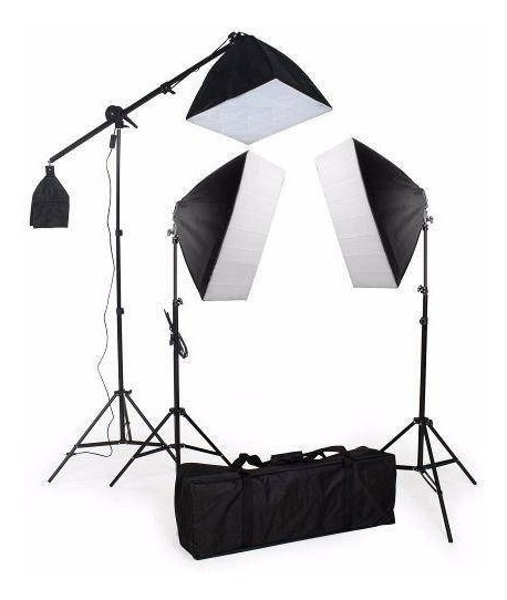 Kit 2 Soft-box 50x70 C/ 1 40x40 E Girafa 5500k Bivolt C/