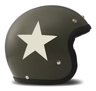 Casco Motociclismo Dmd Vintage Star Green