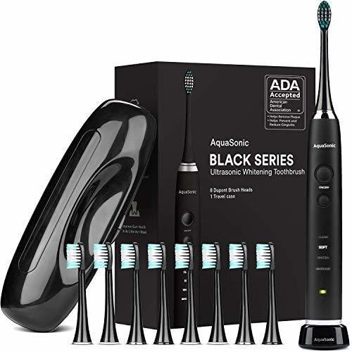 Cepillo De Dientes Aquasonic Black Series, Ultrablanqueador