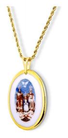Medalha Do Divino Pai Eterno Ouro Religiosa Design Medalhas