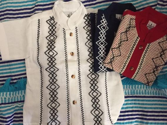 Guayaberas Chiapanecas Hermosos Bordados,varios Diseños