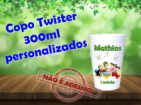 40 Copos Twisters 300ml Chaves