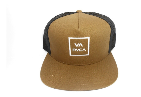 Boné Rvca Trucker Va All The Way Iii Marrom