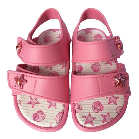 Sandália Pink Estrela Do Mar Velcro 22 Ao 27 Pimpolho 32892e