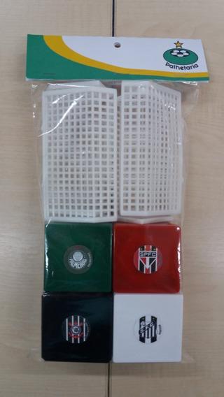 Kit Futebol De Botão Com 4 Times Personalizados - Palhetaria