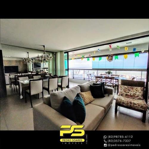 Apartamento Com 3 Dormitórios À Venda, 130 M² Por R$ 890.000 - Jardim Oceania - João Pessoa/pb - Ap4389