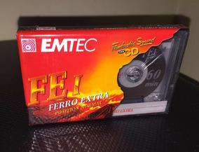 Fita Cassete 60 Minutos Emtec Fe I Original Lacrada