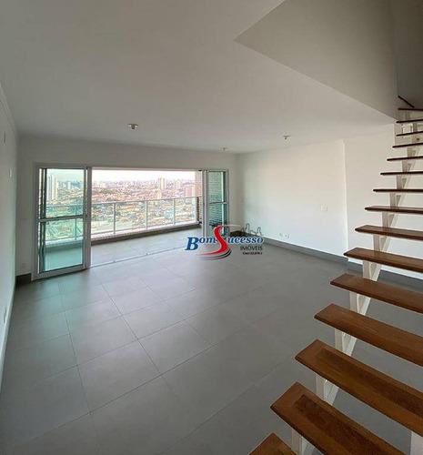 Imagem 1 de 26 de Cobertura Com 1 Dormitório À Venda, 95 M² Por R$ 1.500.000,00 - Jardim Anália Franco - São Paulo/sp - Co0083