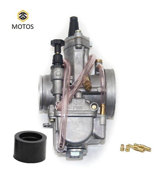 Carburador Koso Pwk 28m 30m 32m 34mm Competição Guilhotina