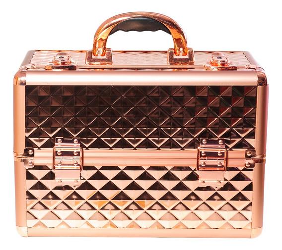 Maletín Profesional Porta Maquillaje Tc 3149 R Rose Gold