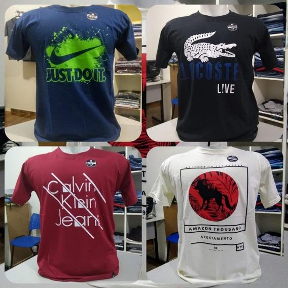 Kit 10 Camisetas Maculina