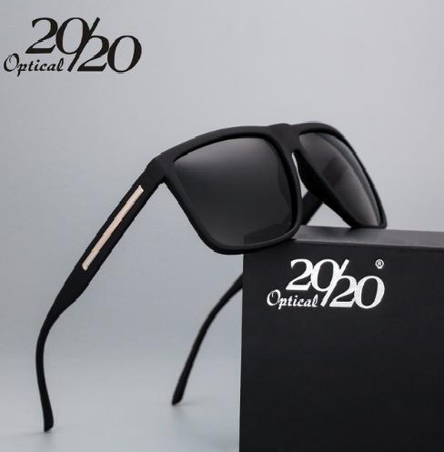 20/20 Marca De Moda Preto Óculos De Sol Dos Homens Polarizad