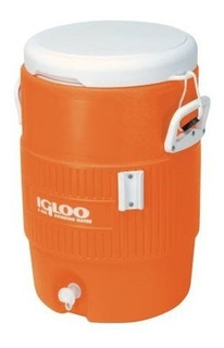Termo Igloo Seat Top Color Naranja 5 Galones 19 Litros