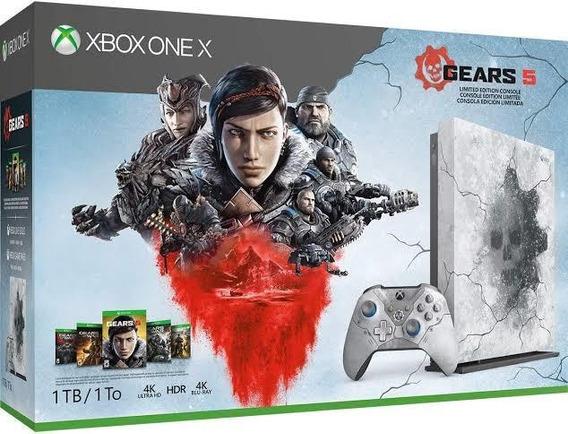 Xbox One X 1 Tb Gears 5 Bundle C\ 2 Controles Pode Retirar