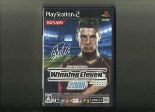 Winning Eleven 2008 Ps2 Original Completo Com Manual Cr7