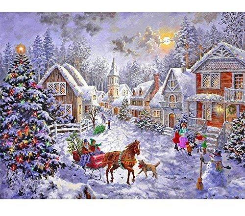 Blxecky 5d Diy Diamond Pintura Por Kits De Numero De Navidad