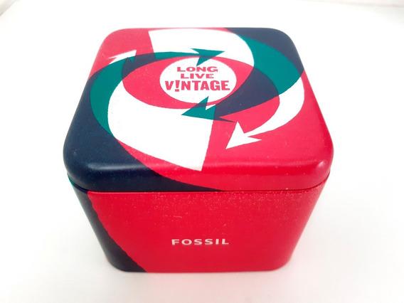Caixa Estojo Relógio Fossil Long Live Vintage - Original!