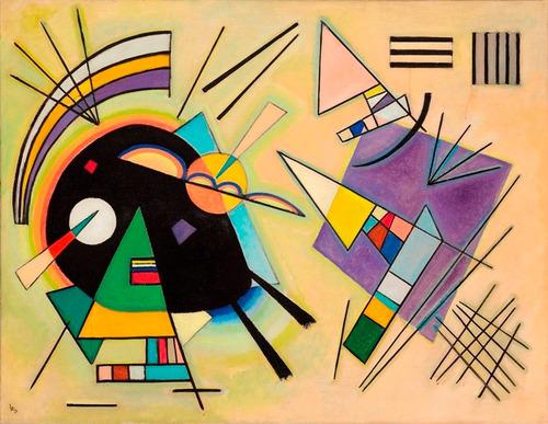 Imagem 1 de 1 de Poster Foto Hd W. Kandinsky 60x80cm Obra Negro E Violeta