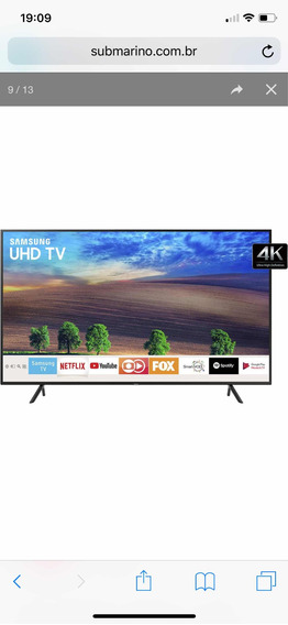 Smart Tv Led 55 Samsung 4k 55nu7100. Ac Troca Scooter