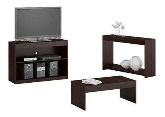 Mueble Rack Pantalla+ Mesa Centro + Consola Combo 730.0006