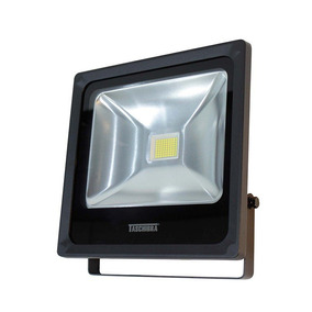 Refletor Luz Amarela Taschibra Tr Led50w Preto 3000k Bivolt