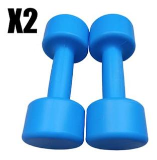 Mancuerna Pes Recargable X 2 Hasta 2 Kg Plastico Fitness
