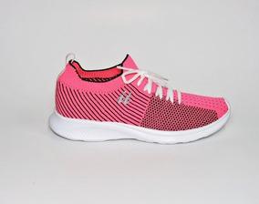 Tênis Feminino It Malha Knit Pink/preto Italeoni