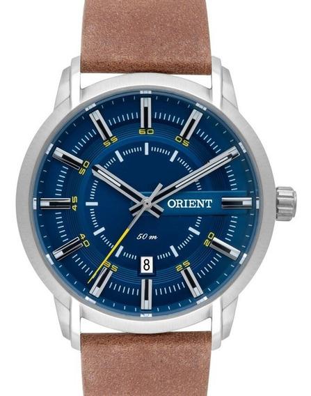 Relógio Orient Masculino Couro Mbsc1028 D1mx C/ Nota