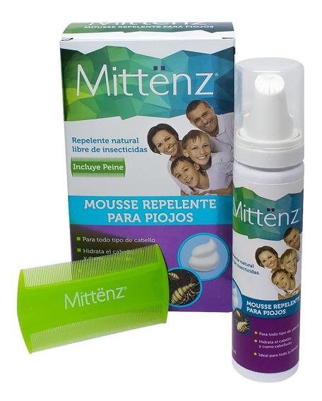 Mittenz Mousse Repelente Piojos 60 Ml C/ing Naturales 3 Pack